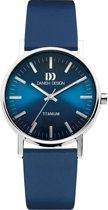 Danish Design IQ20Q199 horloge  - blauw - titanium 35mm