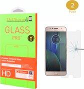 DrPhone 2 x Moto G5s Plus  Glas - Glazen Screen protector - Tempered Glass 2.5D 9H (0.26mm)