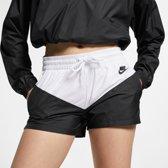 Nike Nsw Hrtg Short Woven Korte broek Dames - Black/White/(Black) - Maat S