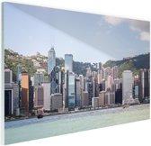 FotoCadeau.nl - Skyline en bergen Glas 120x80 cm - Foto print op Glas (Plexiglas wanddecoratie)