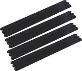DW4Trading® Zelfklevende antislip stickers strips  zwart 12 stuks 38x2 cm