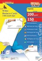 5x Decadry visitekaarten TopLine 150 kaartjes (10 kaartjes 85x54mm per A4), rechte hoeken