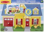 Melissa & Doug Vormenpuzzel Met Geluid Huis 7 Stukjes