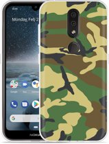 Nokia 4.2 Hoesje Army Camouflage Green