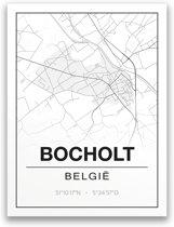 Poster/plattegrond BOCHOLT - 30x40cm