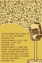 Musiker �ben: Notenheft DIN-A5 mit 100 Seiten leerer Notenzeilen zum Notieren von Noten und Melodien f�r Komponistinnen, Komponisten