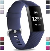 Fitbit Charge 3 silicone band (donkerblauw) - Afmetingen: Maat S