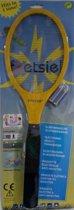 Foetsie elektrische vliegenmepper geel inclusief batterijen