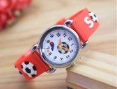Kinder horloge- Voetbal- Rood