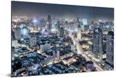 Overzicht van de Chinese stad Tianjin Aluminium 90x60 cm - Foto print op Aluminium (metaal wanddecoratie)