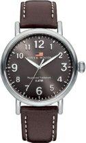 River Woods RW420004 Sacramento horloge Heren - Bruin - Leer 42 mm