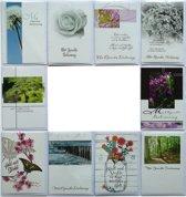 Rouwkaarten en Condoleance kaarten - Set van 10 -- L-010
