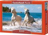 White Camargue Horses puzzel 1000 stukjes