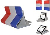 i12Cover - Universele Diamond class Cover 7 Inch - Rood-Wit-Blauw