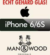 Man & Wood Screenprotector / Schermbescherming ECHT GEHARD GLAS (Tempered Glass) - iPhone 6
