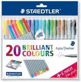Staedtler fineliner 20 kleuren + 6 NEON gratis