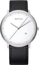 BERING 11139-404 - Horloge - Leer - Zilverkleurig - Ø 39 mm