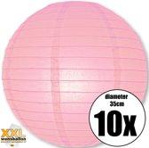 10 roze lampionnen met een diameter van 35cm