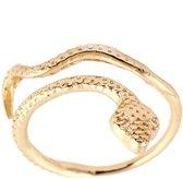 24/7 Jewelry Collection Slang Ring Verstelbaar - Verstelbare Ring - Goudkleurig