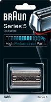 Braun 52S Series 5 Cassette - Vervangend Scheerblad Zilver
