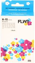 FLWR - Inktcatridge / 15 Zwart - Geschikt voor HP