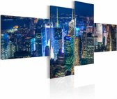 Schilderij - New York in indigo colour