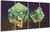 Glasschilderij Modern | Groen, Geel, Zwart | 160x80cm 4Luik | Foto print op Glas |  F004378