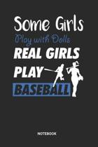 Baseball Girls Notebook: Game Record Notebook (6x9 inches) with Blank Pages ideal as a Tournament Tracking Journal. Perfect as a Training Book