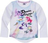 My Little Pony T-shirt-met-lange-mouw-wit - Maat 116
