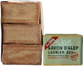 Aleppo Soap Co - Aleppo zeep 20% Laurier 3x 200gr