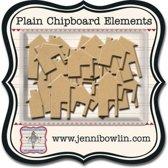 Jenni Bowlin mini chipboard pieces houses