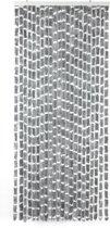 Arisol - Vliegengordijn - 'Kattenstaart' - 220x90 cm - Grijs/Wit