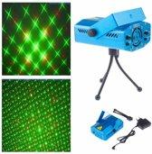 LED Lasershow -  Mini Stage Light - Discolamp Laser Op Geluid - Rood & Groen - voor Kerst, Verjaardagen, Feestjes
