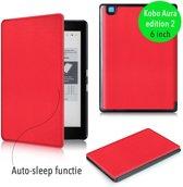 Smart magnetische flip hoes Kobo Aura editie 2 rood