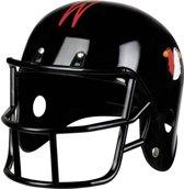 Zwarte American Football helm voor volwassenen - Verkleedhoofddeksel