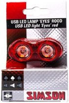 Simson USB LED lamp 'Eyes' rood, 3 lumen