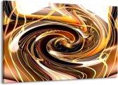 Canvas schilderij Abstract   Geel, Bruin, Zwart   140x90cm 1Luik