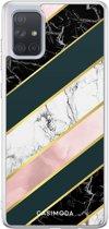 Samsung Galaxy A71 siliconen hoesje - Marble stripes