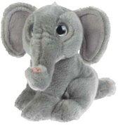 Pluche olifant zittend 18 cm
