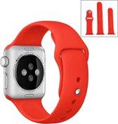 Apple Watch Siliconen Bandje Small + Large Geschikt voor Apple Watch 1 / 2 / 3 / 4 / 5 - 38MM / 40MM  Rood / Red  Premium kwaliteit  TrendParts