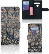 LG G8s Thinq Telefoonhoesje met Pasjes Krokodillenprint