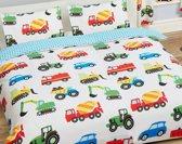 Auto's, Trucks, Vrachtwagens | Tweepersoons Dekbedovertrek