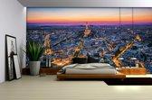 Fotobehang Papier Parijs | Blauw | 254x184cm