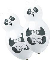 4 Latex Balloons Panda Shapes