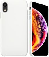 iPhone Xr Siliconen Hoesje Wit Premium Cover Shockproof Case