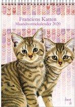 Maandnotitiekalender 2020 Franciens katten A4 'Kittens'