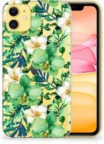 iPhone 11 TPU Case Orchidee Groen