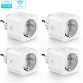 IQONIC® Smart Plug - Set van 4 - Slimme Stekker - Google Home & Amazon Alexa Compatible - Smart Home