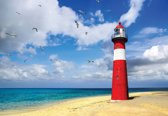 Fotobehang Lighthouse Beach | XXXL - 416cm x 254cm | 130g/m2 Vlies