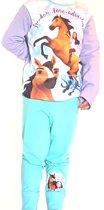 Spirit - riding free - kinder  / tiener- pyjama  -  Maat 104 / 110 - lila/blauw